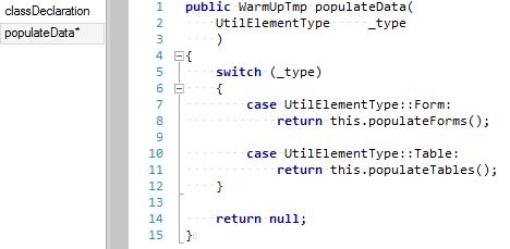 WarmUpForm case populateData