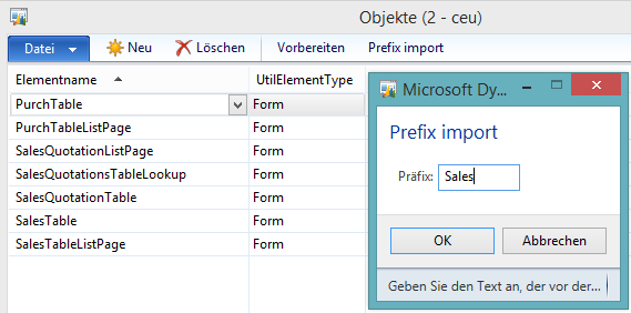 WarmUpForm prefix add