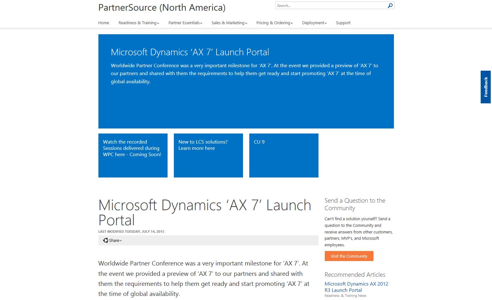 AX7 Launch Portal