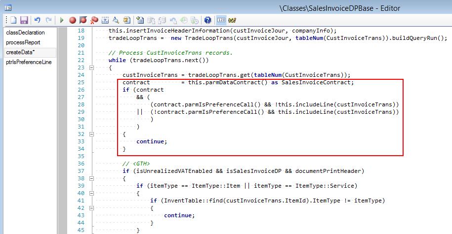 call new method in createData