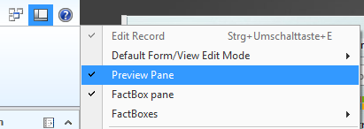 client view options top
