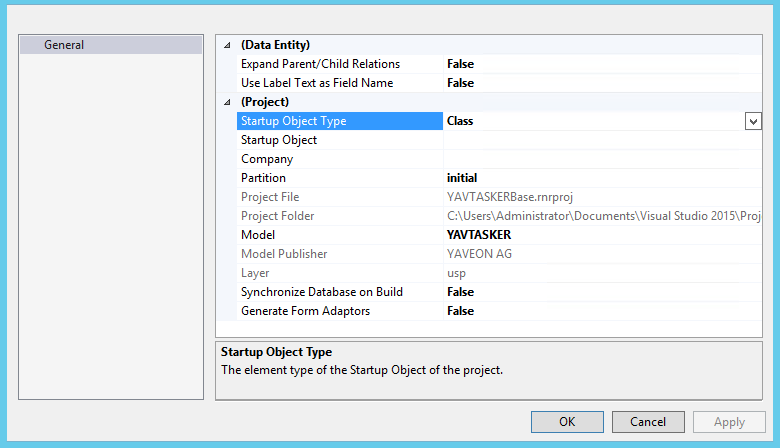 ax7 project properties sync